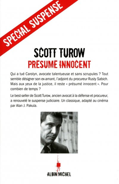Présumé innocent de Scott Turow